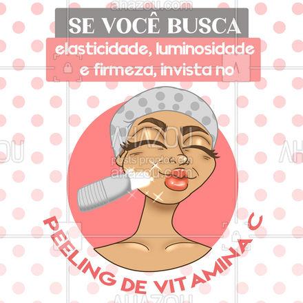 Com o Peeling de Vitamina C você ainda garante renovação celular sem descamação e clareamento de manchas! ? #peeling #peelingdevitaminac #AhazouBeauty  #esteticafacial  #limpezadepele  #beleza