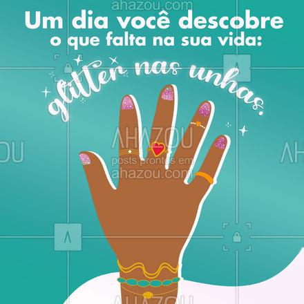 O meu brilho começa nas unhas. 💅🏻🌟 #AhazouBeauty #motivacional #frase #mulher #unhasfeitas  #beleza  #unhas  #manicure  #nailsaloon