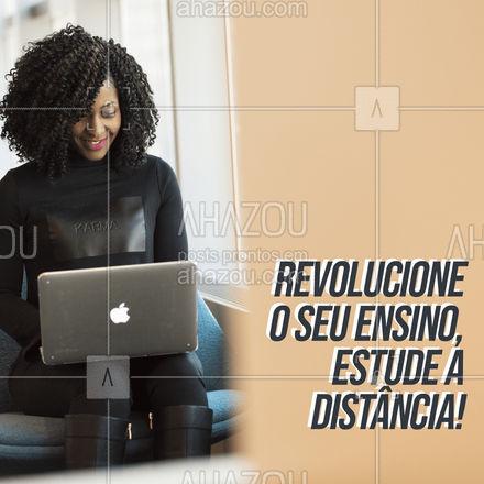 Dê um UP no seu ensino, estude a distância! ?? #AhazouEdu  #educação #aulaparticular #vestibular #professorparticular #concursopúblico #cursinho #ENEM