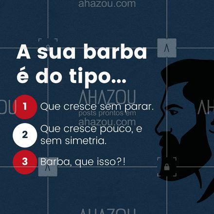 Se a sua barba não cresce, não desanima. Temos ótimos produtos pra te ajudar. #AhazouBeauty #barba #barbeiro #barbearia