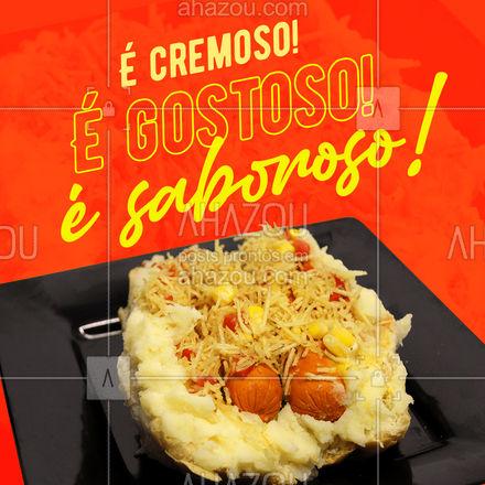 Errou! Não é o requeijão, é o purê da casa! Experimente, você vai entender! ? #ahazoutaste  #hotdog #food #pedido #qualidade #sabor #pure #puredebatata #puredacasa #opçoes