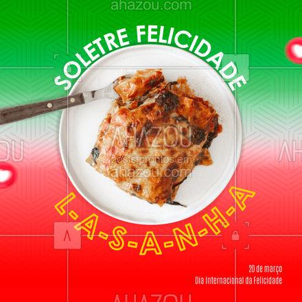 Não tem como não ficar feliz comendo uma lasanha caseira maravilhosa ?. Comemore o Dia da felicidade com lasanha. Entre em contato e encomende já a sua! #pasta #restauranteitaliano #massas #comidaitaliana #ahazoutaste #italianfood #italy #cozinhaitaliana #felicidade #diadafelicidade #diainternacionaldafelicidade #ahazoutaste