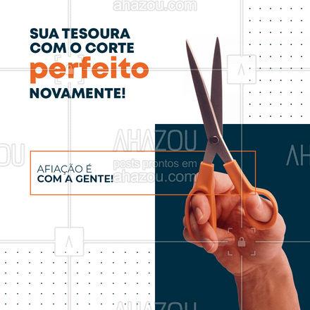 Não é nenhuma mágica é só o nosso serviços de afiação de tesouras ? #AhazouServiços #chaveiro #afiação #tesoura #afiaçãodetesoura #serviços #corte
