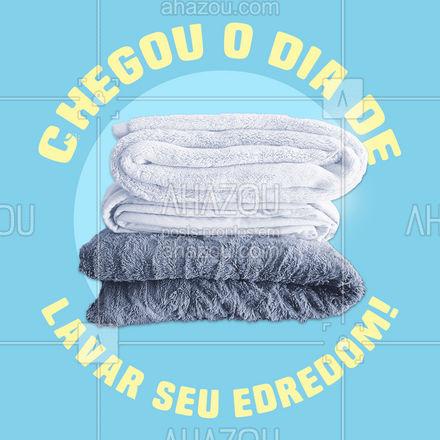 Hoje é dia de lavara edredom! Aproveite e traga o seu! #AhazouServiços #edredom  #lavanderia  #roupalavada  #roupalimpa