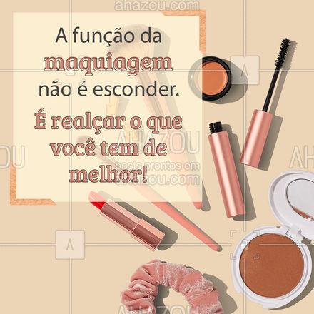 Aqui usamos a make para te deixar mais linda do que você já é! ? #make #makeup #AhazouBeauty #maquiagem #maquiadora #AhazouBeauty