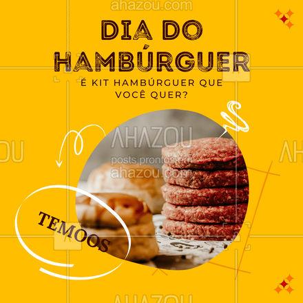 Opaaa, nós temos kit hambúrguer sim, perfeito para você nesse dia especial! Já chama no delivery e peça o seu! ?? #ahazoutaste #hamburguer #burguer #burger #food #comida #diadohamburguer #KitBurger #KitHamburguer #delivery #lanche #ahazoutaste #ahazoutaste #ahazoutaste