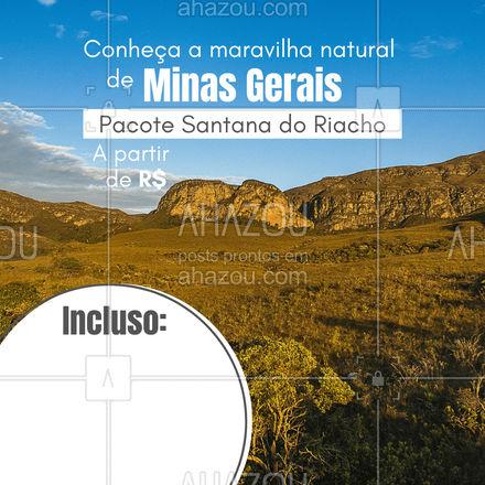 Quando o assunto é natureza, a Serra do Cipó é um dos destinos mais fascinantes de Minas! Entre em contato: (xx) xxxx-xxxx #AhazouTravel  #viagens #agentedeviagens #viagempelobrasil #viajar #trip #agenciadeviagens #viagem
