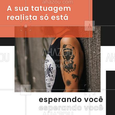Quer uma tatuagem realista? Então você achou o lugar certo. É só pedir que a sua nova tattoo vai estar pronta rapidinho. #AhazouInk #tattoo #tatuagem #realista #AhazouInk