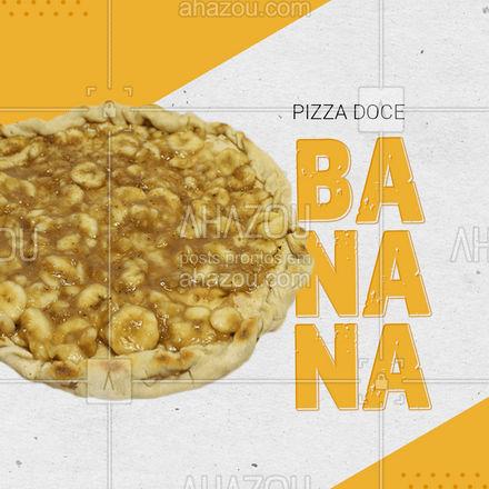 A melhor pizza doce da região você só encontra aqui!! Faça o seu pedido ?? #pizza #pizzadoce #ahazoutaste #pizzadebanana #pizzalovers #doce