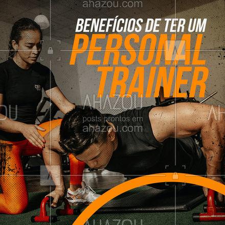 Você já parou pra pensar nos benefícios que um personal trainer pode te trazer ? Se não pensou vou citar 5 aqui você pra se ligar: Motivação 2-segurança 3-Personalização 4-Garantia de resultado 5-Variabilidade #AhazouSaude #personal #personaltrainer #boratreinar #nopainnogain
