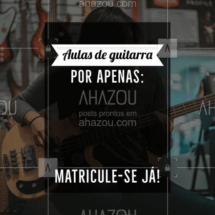 Matricule-se nas nossas aulas de guitarra e aprenda a tocar de verdade esse instrumento! Entre em contato e saiba mais! ? #AhazouEdu  #professordemusica #aulaparticular #música #instrumentos #aulademusica #guitarra