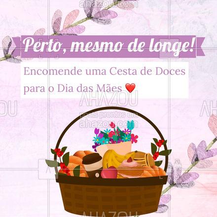 Mostre que você lembrou da data e comemore com quem você ama! O Dia das Mães é momento de retribuir e dar atenção. ❤️ Todo mundo sabe que não existe jeito melhor de demonstrar carinho do que com uma cesta de doces, né?  #ahazoutaste  #confeitaria #doces #doces #confeitariaartesanal