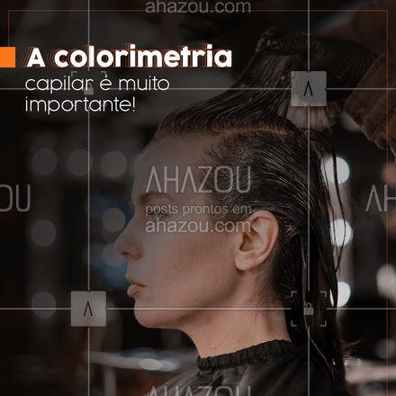 O estudo da colorimetria é muito importante e pode influenciar diretamente na qualidade do serviço executado, isso por que ao entender mais sobre essa ciência, o profissional consegue tomar ações mais assertivas para cada tipo de cliente e assim atingir os resultados esperados. 👩 #AhazouBeauty #cabeloperfeito #hair #cabeleireiro #salaodebeleza #cabelo #colorimetriacapilar #hidratacao #hairstylist