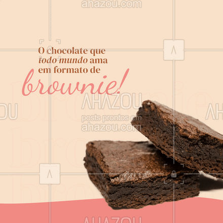 Está preparado para adoçar o seu dia com um delicioso Brownie? ?  #brownie #browniedechocolate #ahazoutaste  #confeitaria  #confeitariaartesanal  #doces