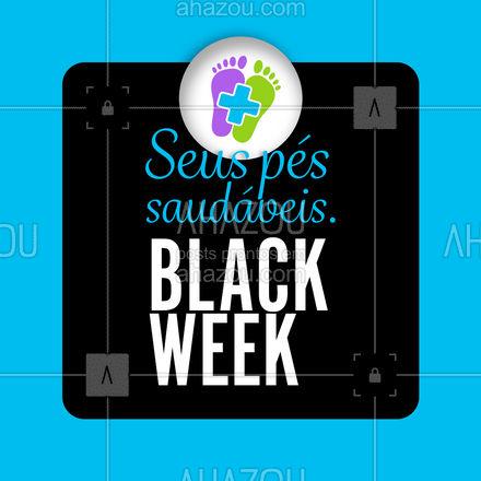 Na semana black estaremos com promoções imperdíveis para você cuidar do seus pés. Venha conferir! #AhazouSaude #podologiacomamor #podologia #podolog #saude #semanablack #blackfriday #AhazouSaude