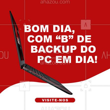 Não arrisque perder seus dados, mantenha sempre em dia o backup dos seus arquivos. Fazemos esse trabalho pra você! Visite-nos! ?? #AhazouTec #computador #tecnologia #assistentetecnico #computadores #eletrônicos #assistenciatecnica #AhazouTec
