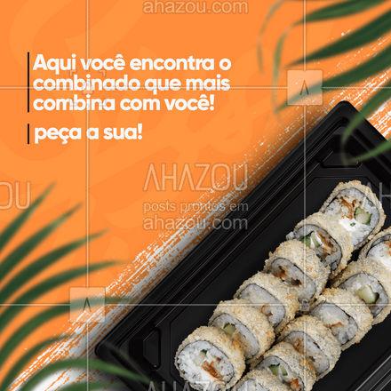 O combinado que combina com você tem aqui! Faça seu pedido! ??? #ahazoutaste #sushidelivery  #sushitime  #japanesefood  #comidajaponesa  #sushilovers  #japa
