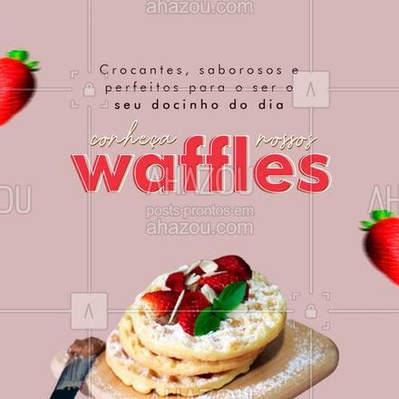 Já provou a melhor opção de sobremesa para o seu dia? 😍#waffles #ahazoutaste #doces #padaria #confeitaria