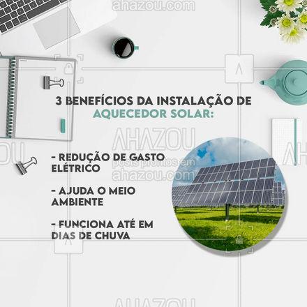 Entre em contato para instalar o seu! #AhazouServiços #aquecedor #painelsolar