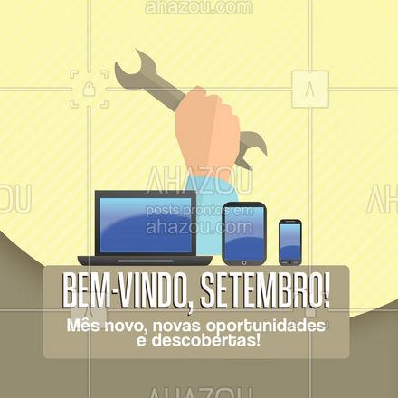 Que tal aproveitar e renovar o estado de conservação do seu aparelho eletrônico? A gente só percebe que precisava depois de ter consertado! #AhazouTec  #tecnologia  #computadores  #eletrônicos  #celulares  #assistenciatecnica #setembro