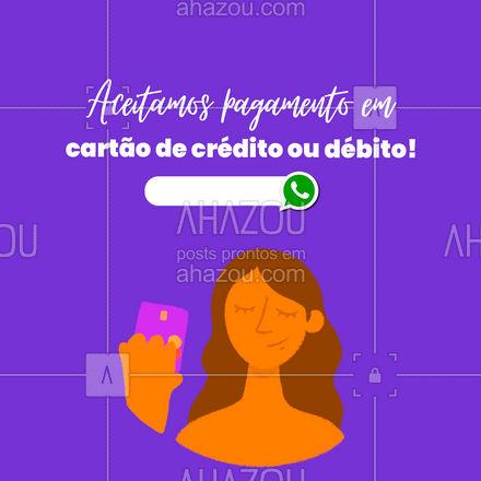 Agora você ter mais opções na hora de pagar pelos nossos serviços! Marque seu horário! #AhazouServiços #manutençao #serviços #maridodealuguel #formasdepagamento #pagamento