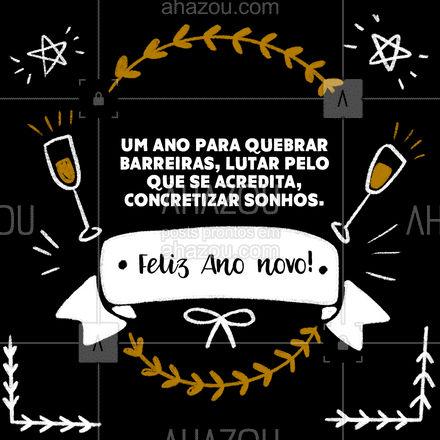 Que esse ano traga força de vontade para você lutar pelos sonhos! Feliz ano novo!✨ #ahazou #ahznoel #anonovo #felizanonovo  #motivacional #motivacionais #frasesmotivacionais