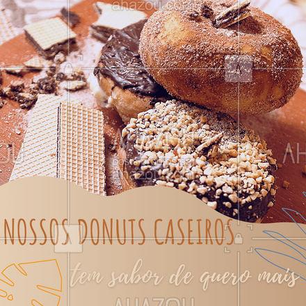 Não vale provar só um sabor em ? É preciso provar cada sabor para adoçar ainda mais a sua vida e escolher o seu favorito ? #ahazoutaste  #confeitaria #doces #docinhos #donuts #caseiro