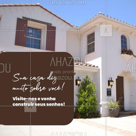 Com os nossos serviços de construção civil deixamos sua casa do jeitinho que você sempre sonhou! Visite-nos! 🏡🧱 #AhazouImobiliaria , #AhazouConstrutora  #construturacivil  #mercadoimobiliario   #consultoriadeimoveis   #corretordeimoveis