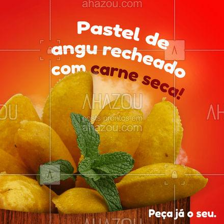 Temos o tradicional pastel de angu recheado com carne seca! Não perca tempo, peça pelo nosso delivery! #ahazoutaste #pasteldeangu #pastel  #bar #pastelrecheado #pub #instafood