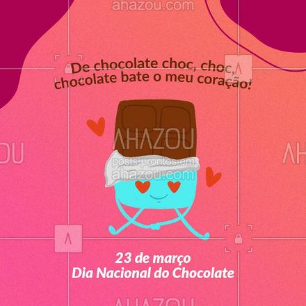 Quem também ama chocolate levanta a mão ??❤️?. #chocolate #dianacionldochocolate #ahazou #chocolateaoleite #chocolatemeioamargo #frasesmotivacionais #motivacionais #motivacional #ahazou #ahazou