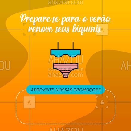Prepare-se para o verão, aproveite para renovar seus biquínis. Aproveite nossa promoção exclusiva. ?? #AhazouFashion #tendencia #moda #modapraia #praia #verao