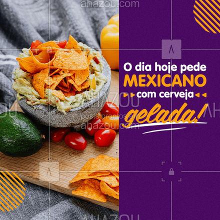 Cervejinha gelada ao lado daquela guacamole fresca com totopos crocrantes! Venha nos fazer uma visita! #ahazoutaste #comidamexicana  #cozinhamexicana  #vivamexico  #texmex  #nachos