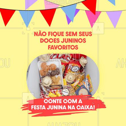 Encomende uma Festa Junina na caixa com os seus docinhos prediletos e comemore em casa! Faça seu pedido: (inserir contato) #festajunina #festanacaixa #ahazoutaste #confeitaria #kitfesta #docinhos #festajuninanacaixa