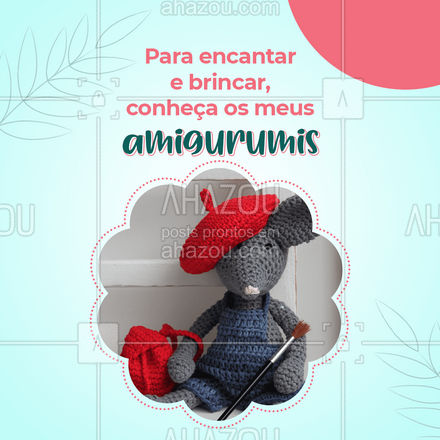 Além de lindos, os amigurumis são uma excelente opção de brinquedo. Conheça o meu trabalho e faça a sua encomenda! #costureira #tricot #reparos #AhazouFashion #modasustentavel #encomendas #fashion #costuraereparos #amigurumi #amigurumibrasil #feitoamao #AhazouFashion