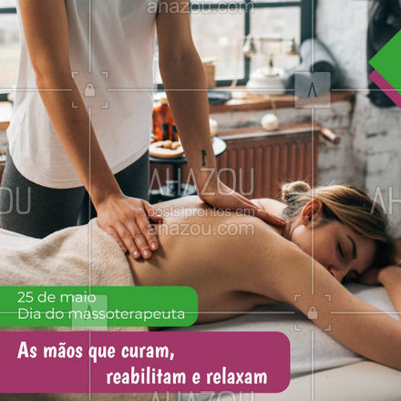 As mãos que fazem toda diferença na sua vida.?♀?♂   #AhazouSaude #25demaio #massoterapeuta #diadomassoterapeuta  #massagem #relax #terapiascomplementares #bemestar #vivabem #saude #frase