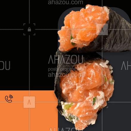 Uma delícia dessas! ? Faça seu pedido: (xx) xxxxx-xxxx #ahazoutaste #japa #comidajaponesa #sushidelivery #sushitime #sushilovers #japanesefood #temaki #pedido #delivery #entrega #online