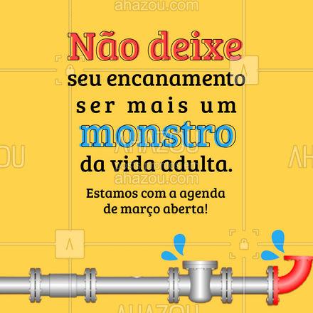 Não deixe os reparos acumularem até o ponto de te enlouquecer! ? #reparos #encanador #AhazouServiços #agendaaberta #agendademarço #AhazouServiços