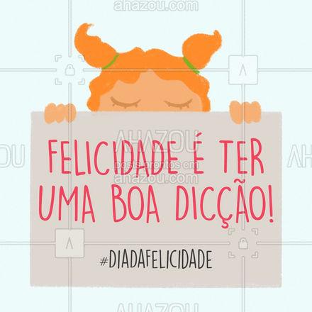 Sabe como você pode conquistar uma boa dicção? Com uma boa fono! ? #fonoaudiologia #fono #diccao #AhazouSaude #felicidade #diadafelicidade
