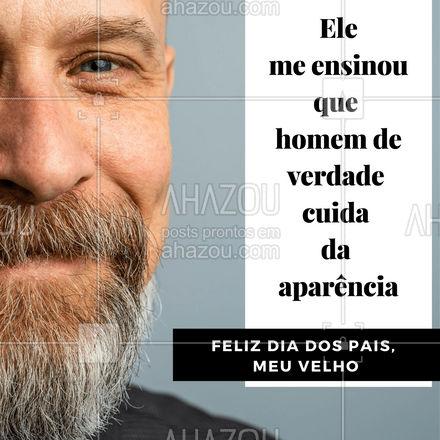 Desejamos um feliz dia dos pais para todos os pais do Brasil.  #AhazouBeauty  #barbeiro #barbeirosbrasil #felizdiadospais