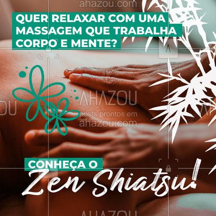 Tá todo mundo precisando cuidar da saúde mental, né? Essa massagem, que além de cuidar do fortalecimento do corpo, também te ajuda a aliviar o estresse! Marque seu horário e experimente. ❤️ #AhazouSaude  #quickmassage #massoterapia #relax #massoterapeuta #massagem