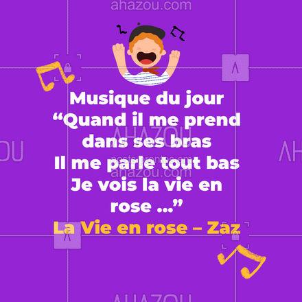 A musica é excelente para você treinar o seu vocabulário e ouvido para o idioma! Que tal treinar hoje com a música La Vie em rose da Zaz? #aulasdefrances #aulaparticular #aulaemgrupo #AhazouEdu #idiomas #aprenderfrances #musicadodia #frances #aprendacommusica