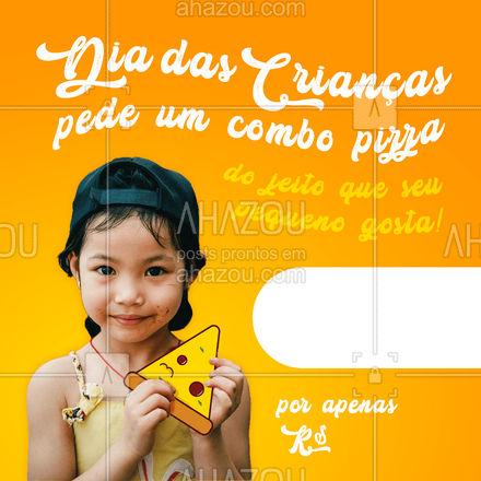 Aproveite nosso combo especial para o seu pequenino e torne o Dia das crianças ainda mais saboroso! ?? #ahazoutaste #pizzaria  #pizza  #pizzalovers  #pizzalife
