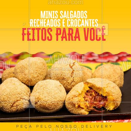 Deliciosos salgadinhos esperam para serem deliciados por você, faça a sua encomenda! #salgadinhos #ahazoutaste #foodlovers #combo
