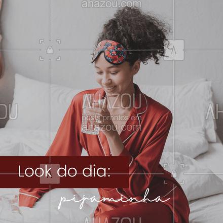 Domingo combina com um pijaminha,quer mais estilo que isso!? #AhazouFashion  #moda #lookdodia# domingo