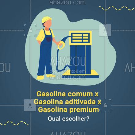 Escolher a gasolina certa faz muita diferença no desempenho do veículo, mas você sabe a diferença entre cada uma delas? A gasolina comum é aquela que sai da refinaria acrescido de 25% de etanol anidro (exigido por lei) não possui nenhum outro aditivo e esse tipo de gasolina pode deixar resíduos de combustão que a longo prazo pode comprometer a mistura de ar e o combustível. A gasolina aditivada é a gasolina comum com o etanol, porem são acrescidos detergente, dispersantes, antioxidantes e anticorrosivos que garantem a limpeza do motor. A gasolina premium também tem 25% de etanol anidro (como manda a lei) e os aditivos, entretanto a principal diferença entre as outras é a octanagem, enquanto as outras possuem 87 octanas (medida de resistência da gasolina a combustão espontânea) a gasolina premium possui 91 octanas. Se você está em dúvida de qual é a melhor escolha para o seu veiculo consulte o manual do fabricante onde você encontrara todas as especificações. #esteticaautomotiva #eletricaautomotiva #mecanicaautomotiva #carros #AhazouAuto #lavajato #automotivo #mecanica #automotiva #enquete