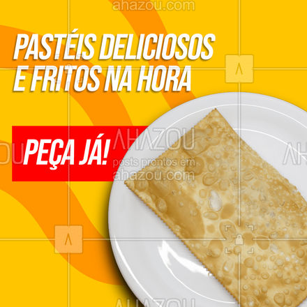 Um sabor mais delicioso que o outro para matar sua fome, tudo isso frito na hora para conservar ainda mais o sabor. Peça já! ? #ahazoutaste  #foodlovers  #pastelaria #pastelrecheado #amopastel #pastel