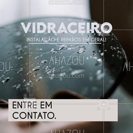 Serviços de vidraceiro em geral. Entre em contato, serviço eficaz e satisfação garantida! #AhazouVidraçaria   #vidrotemperado  #vidracaria  #vidraçaria #servicos #reparos #instalacao