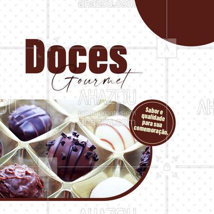 Quer impressionar na sua comemoração? Então não deixe de encomendar nossos deliciosos doces gourmet! Aguardamos seu contato!  #ahazoutaste #docegourmet #doces #gourmet  #confeitaria #docinhos