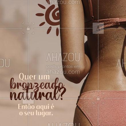 Faça o seu agendamento hoje mesmo e garanta o seu bronzeado natural.  #AhazouBeauty #bronzeadonatural #agenda #estética