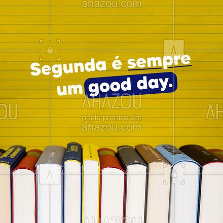 Um GOOD DAY é um bom dia. E para ter um bom dia, você precisa falar inglês. Porque o inglês deixa tudo GOOD, até a sua segunda-feira. #AhazouEdu #aulasdeingles #goodday #segunda #AhazouEdu